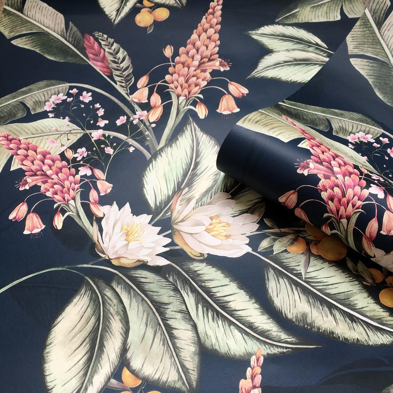 Paradise Garden Wallpaper - Navy