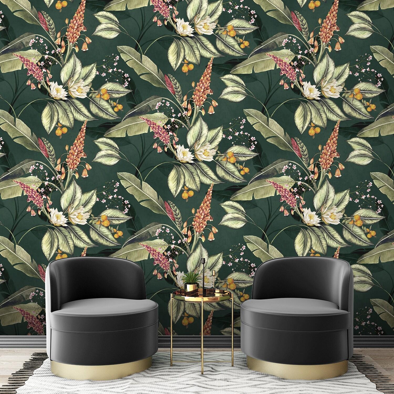 Paradise Garden Wallpaper - Green