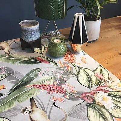 Animal Garden Wallpaper - Grey