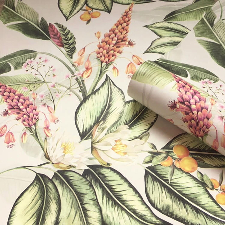 Paradise Garden Wallpaper - Cream