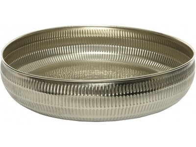 Silver Hammered Effect Bowl