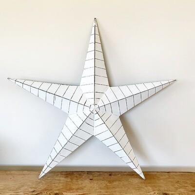 White Metal Barn Star - 52cm