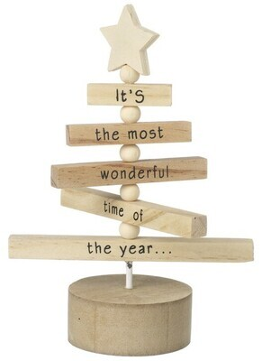 Wooden Christmas Decorative Tree