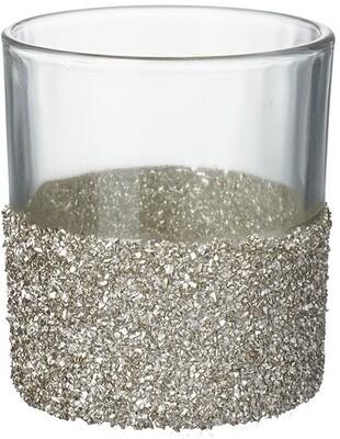 Crushed Gold Glitter Tealight Holder