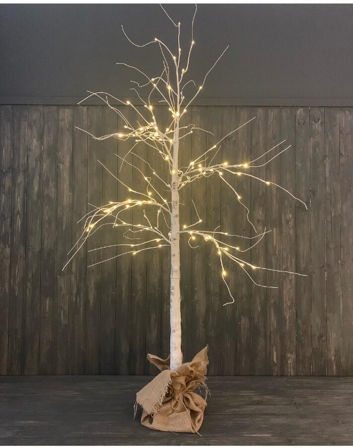 White Birch LED Christmas Tree
