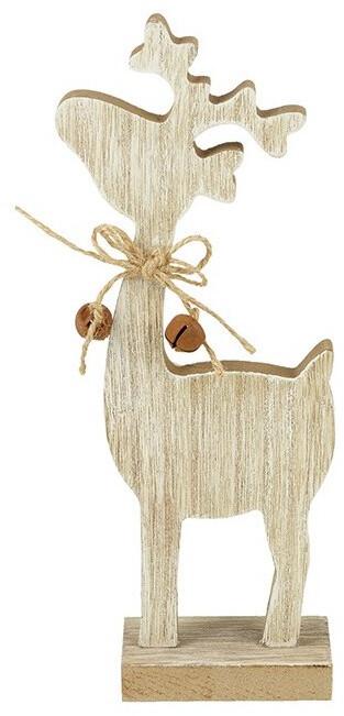 Natural Wooden Reindeer Block