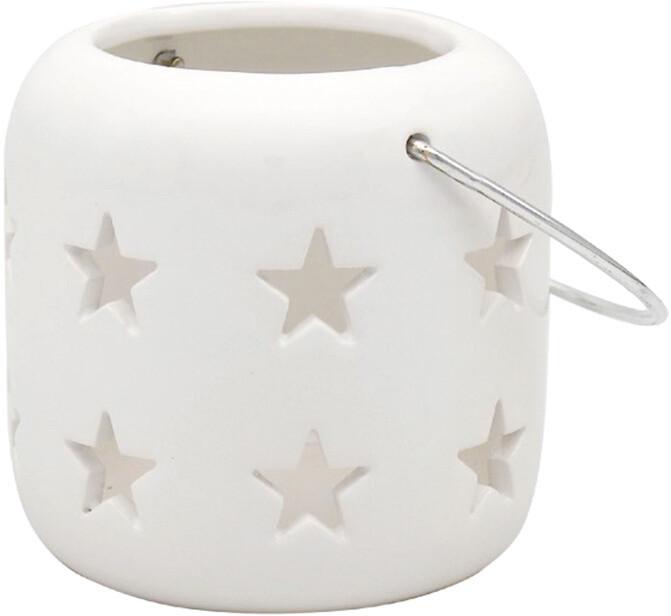 Sleek White Star Lantern