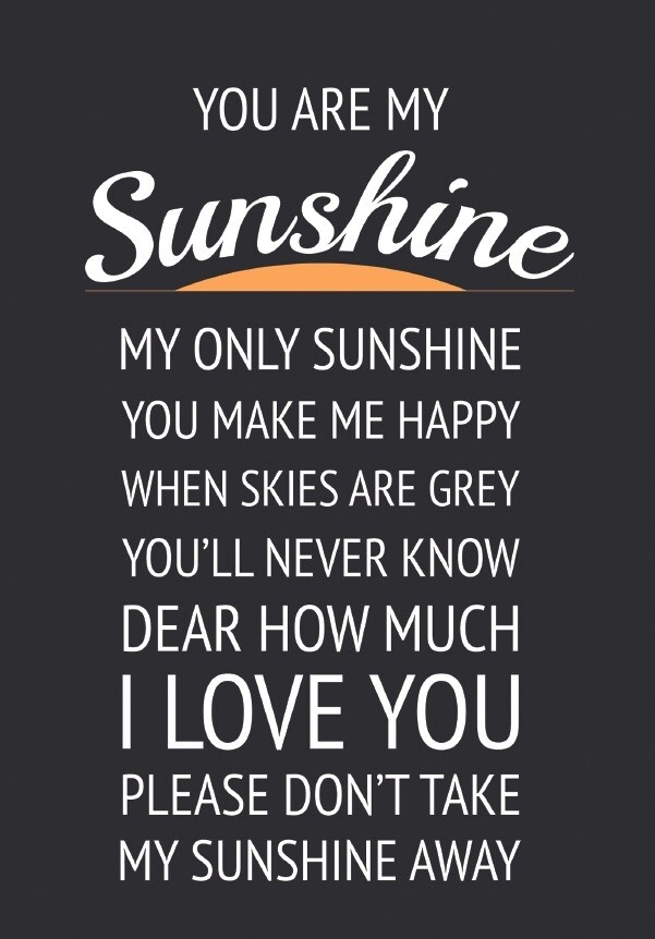 You are my Sunshine - Large Metal Sign
