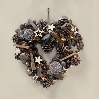 Rustic LED Woodland Wreath