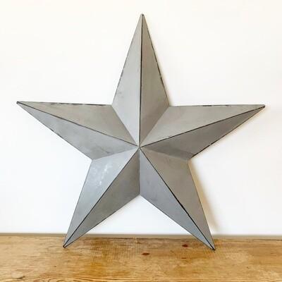 Vintage Grey Metal Barn Star - 52cm