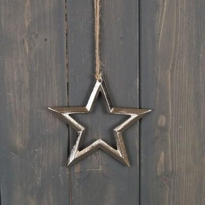 Silver Star Hanger - 12cm