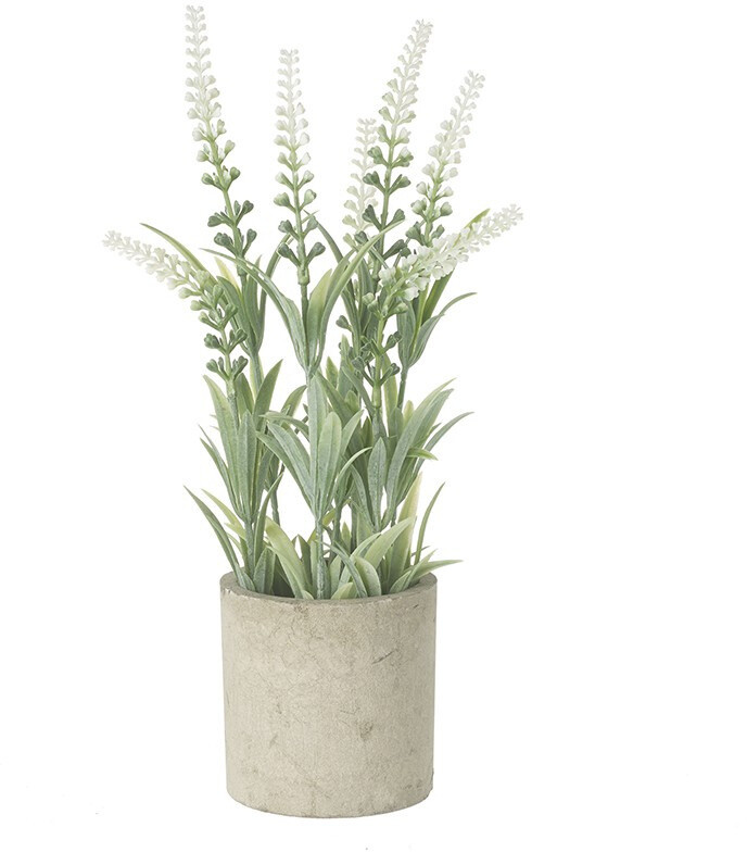 Tall Faux Plant in stoneware pot