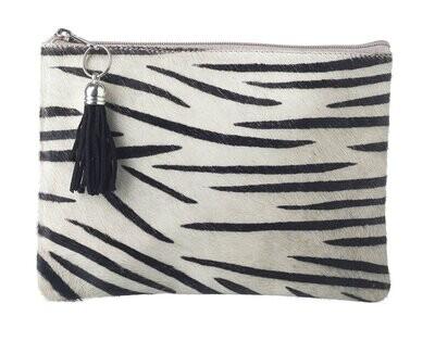 Zebra Print Goat Hide Bag