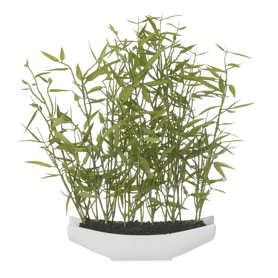Potted Faux Bamboo Plant