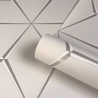 Harper Rose Gold - Geometric Wallpaper