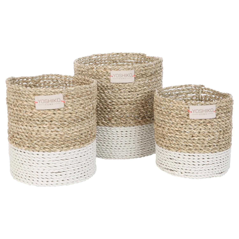 Seagrass Basket Medium - White/Natural