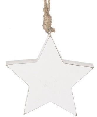 Chunky White Star Hanger - 12cm