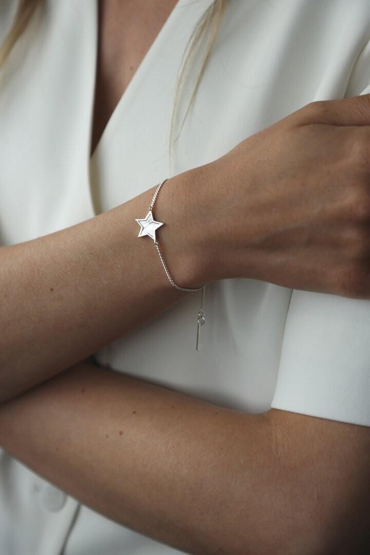 Midnight Bracelet Silver Star
