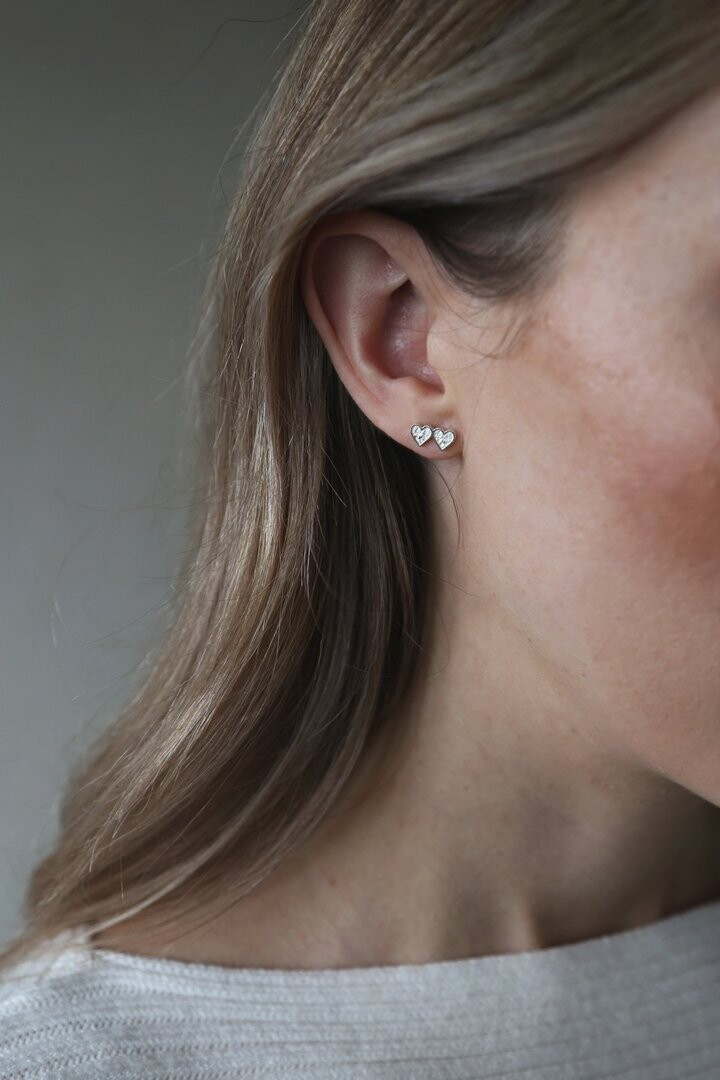 Heartbeat Earrings Silver