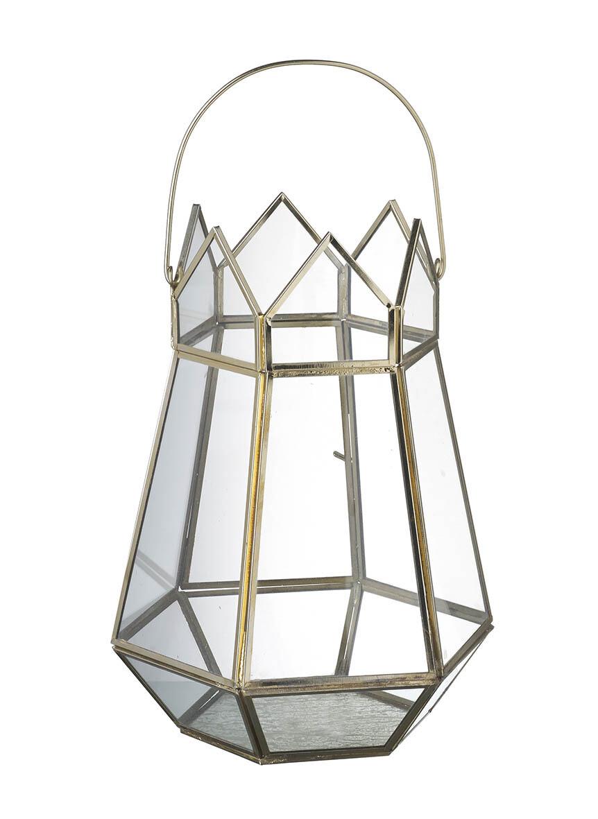 Gold Pembertern Lantern/Terrarium