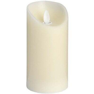 Tall LED Church Candle - Cream