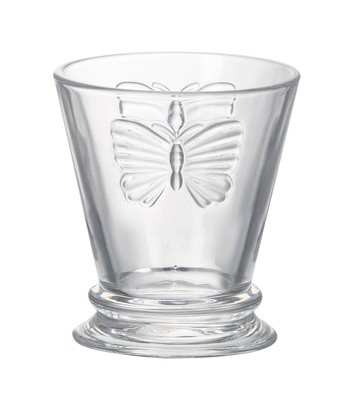 Butterfly glass tumbler x 2