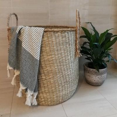 Seagrass / Tassel Basket