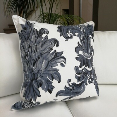 Midnight Damask Cushion