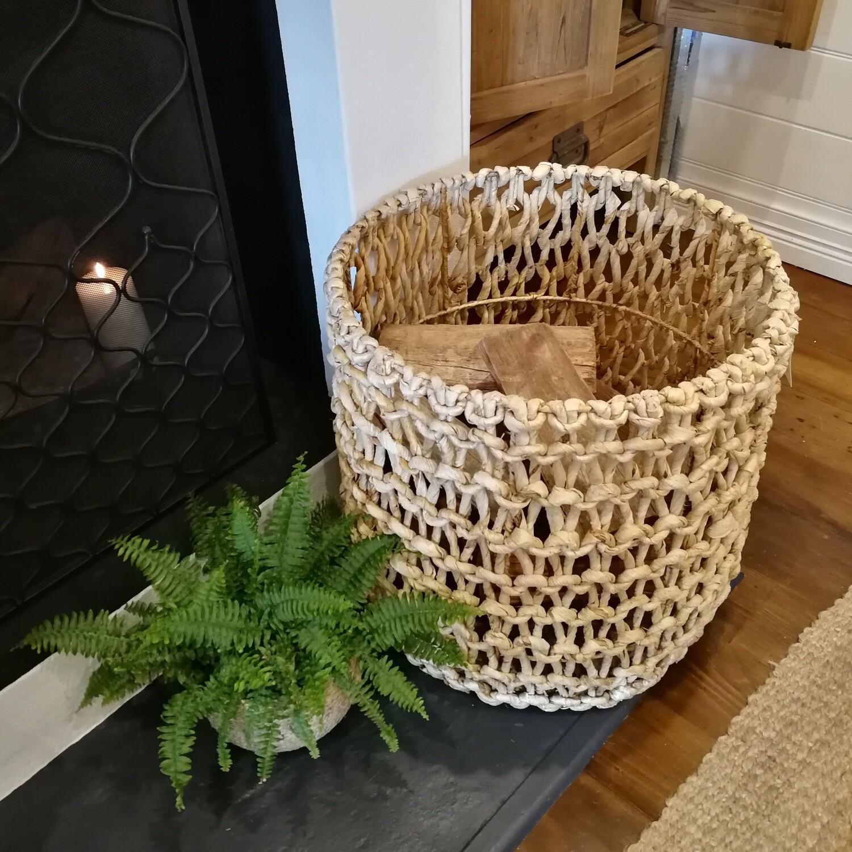 Banana Bark Open Twisted Basket