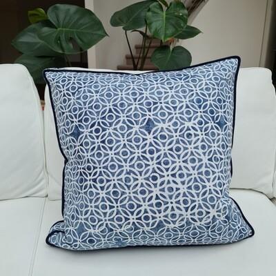 Indigo Chain Cushion