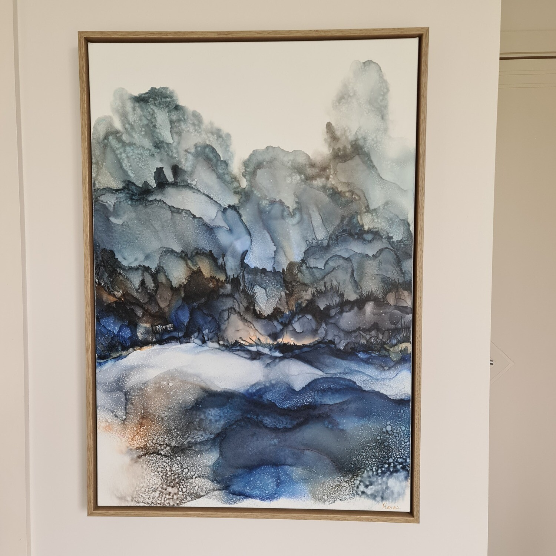 Indigo Mountains - Original Art