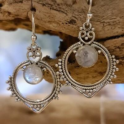 Rajasthani Moonstone Earrings