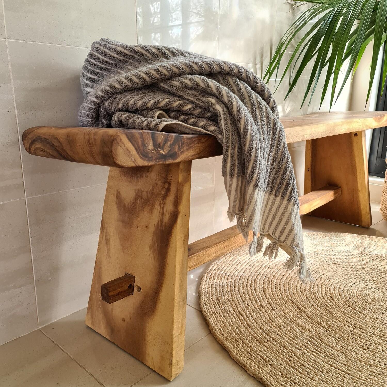 Natuurlike Hardwood Bench stool