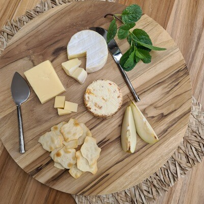 Teak Round Platter / chopping Board