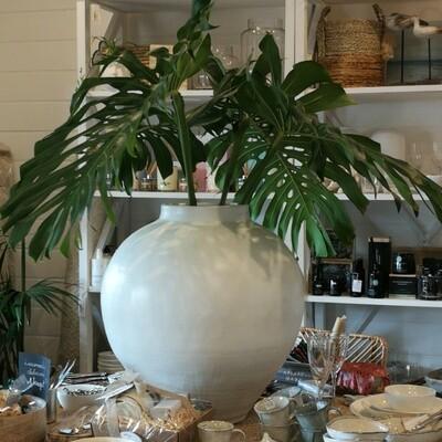 Organic Terracotta White Urn