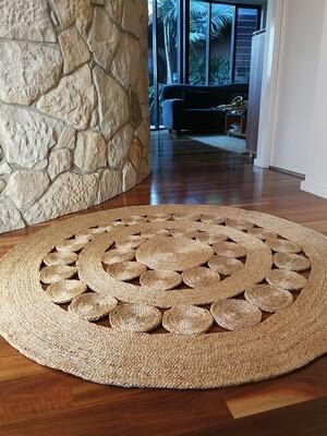Braided Jute Circle Pattern Rug