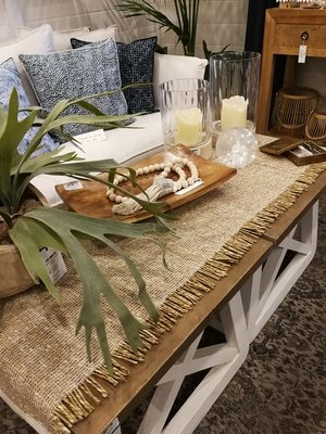 Natural Seagrass Table Runner