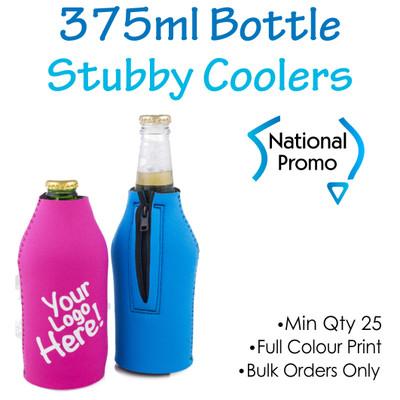 ZIP UP 375ml Bottle Stubby Cooler