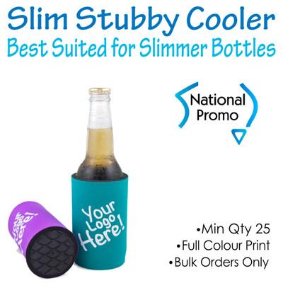 SLIMLINE Stubby Cooler With Base