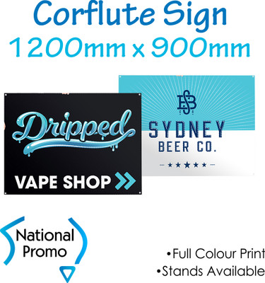 Corflute Sign 1200mm W x 900mm H