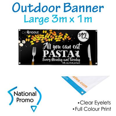 Outdoor Vinyl Banner 3m W x 1m H
