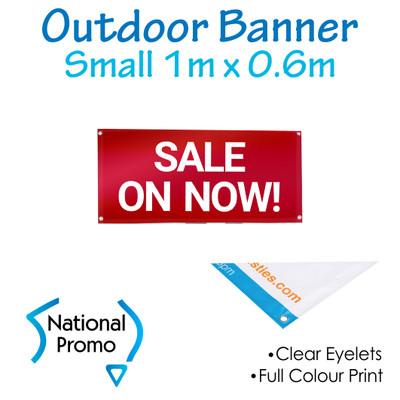 Outdoor Vinyl Banner 1m W x 0.6m H
