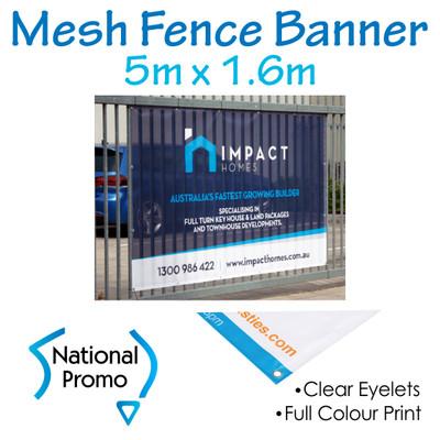 Mesh Fence Banner 5m W x 1.6m H
