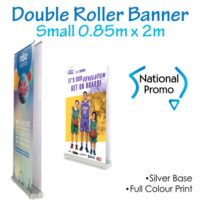 Double Sided Roller Banner 850mm W x 2000mm H