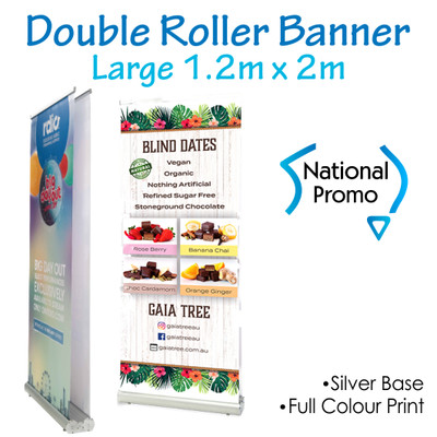 Double Sided Roller Banner 1200mm W x 2000mm H