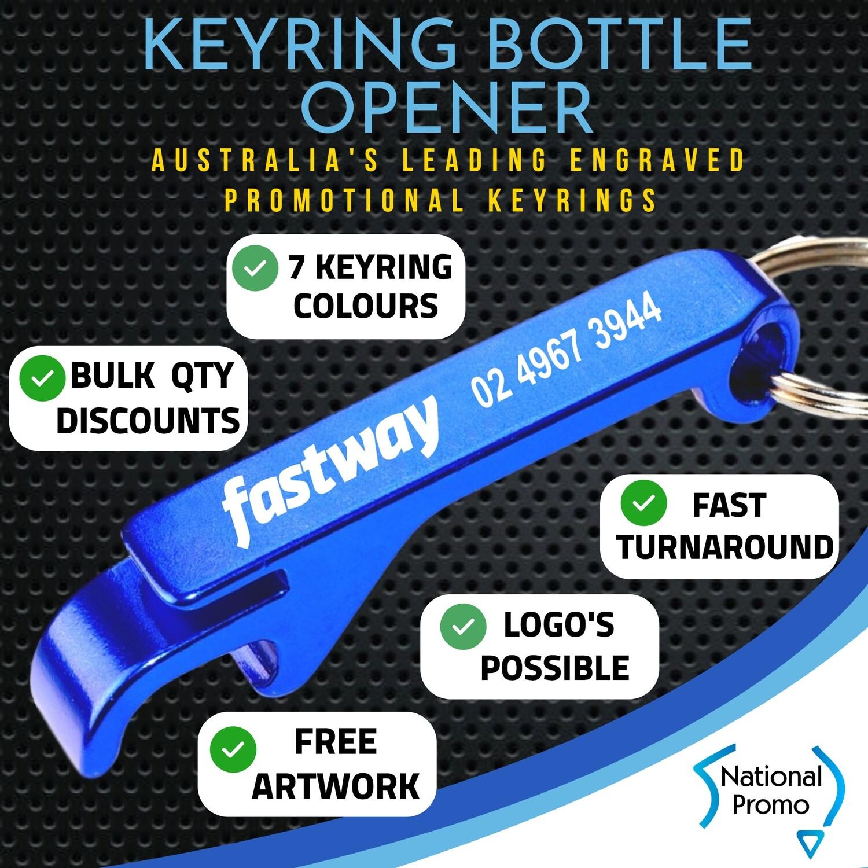Engraved Metal Bottle Opener Keyring with FREE DELIVERY