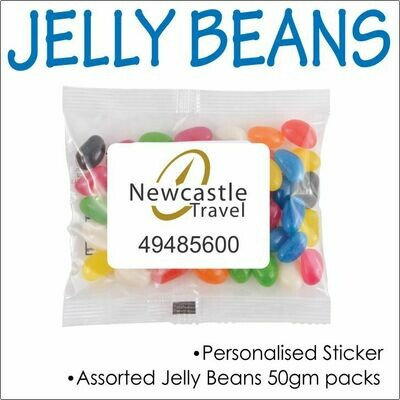 50gm ASSORTED JELLY BEANS CELLO BAG