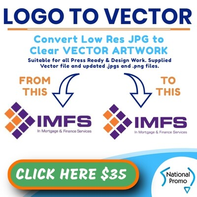 CONVERT JPG to VECTOR ART