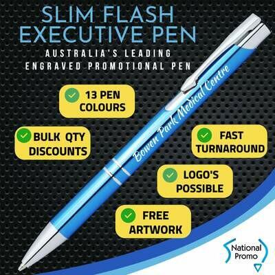 SLIM FLASH / TRADE Metal Engraved Pen