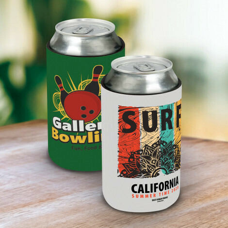 Full Colour Print on 1 SIDE only > STUBBY COOLER - FLAT PACK OPTION